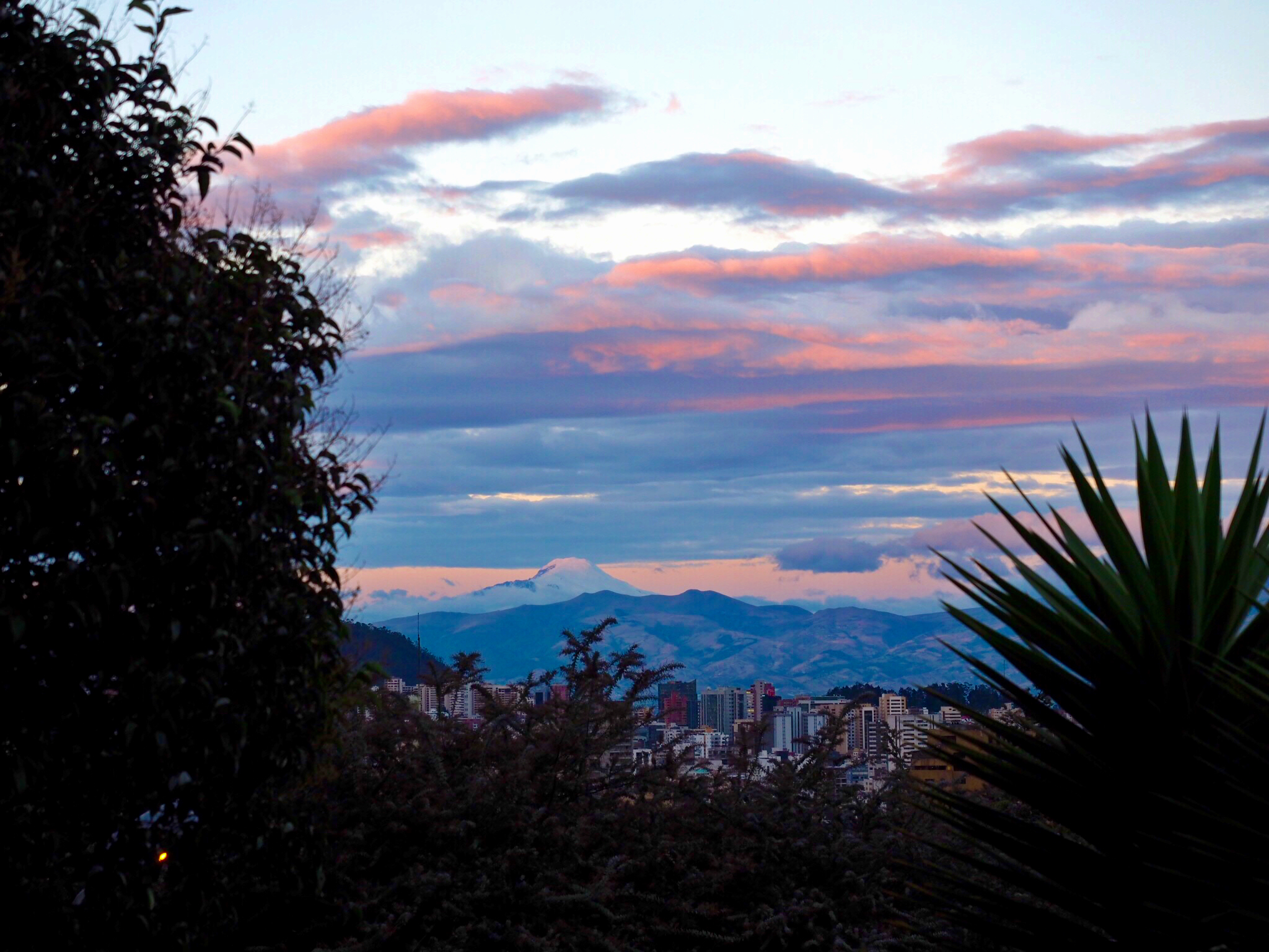 Quito by sunset